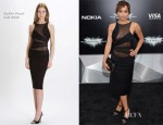 Zoe Kravitz In Emilio Pucci - 'The Dark Knight Rises' New York Premiere