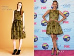 Zoe Saldana In Jonathan Saunders - 2012 Teen Choice Awards