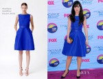 Zooey Deschanel In Monique Lhuillier - Teen Choice Awards
