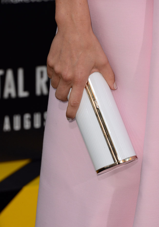 Jessica Biel's Jimmy Choo clutch
