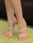 Anna Kendrick's Herve Leger sandals