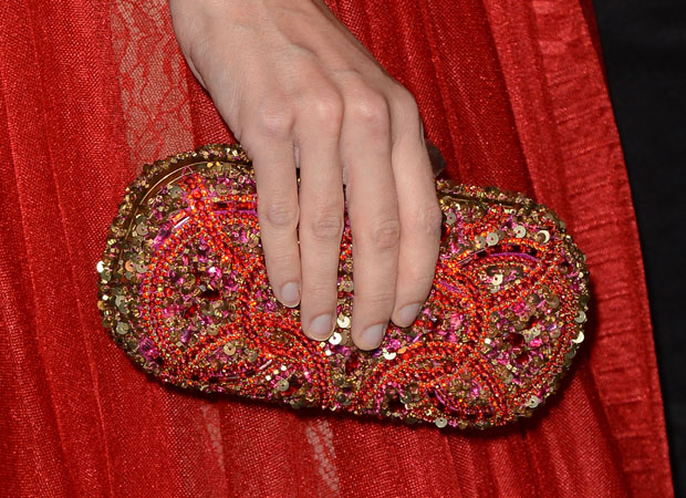Jaime King's Marchesa clutch