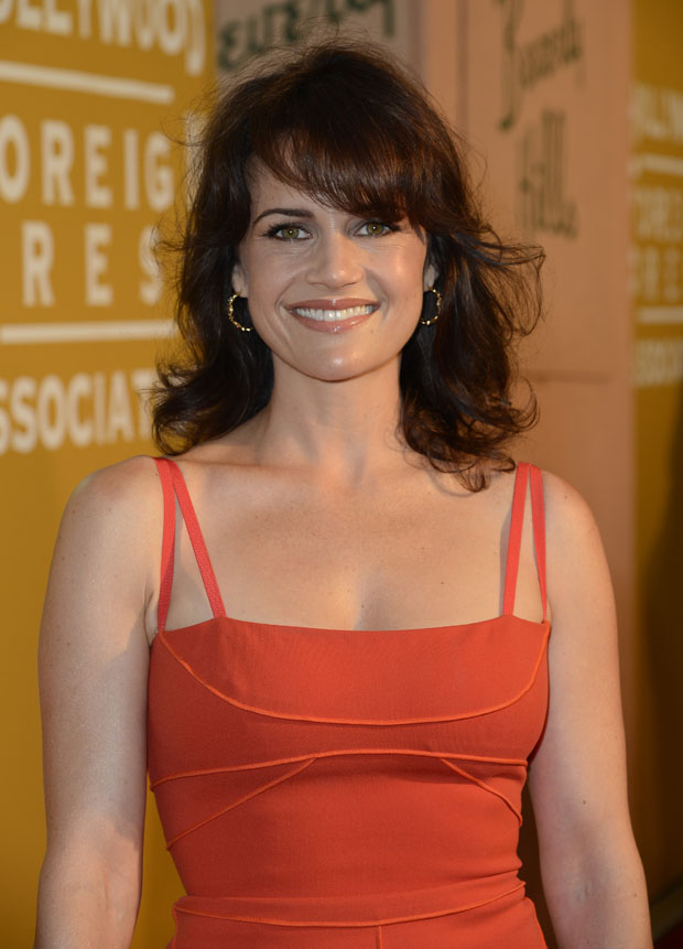 Carla Gugino in Amanda Wakeley