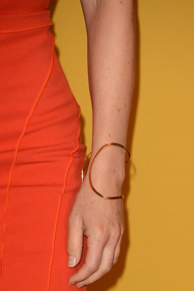 Carla Gugino's H.Stern Oscar Niemeyer bracelet