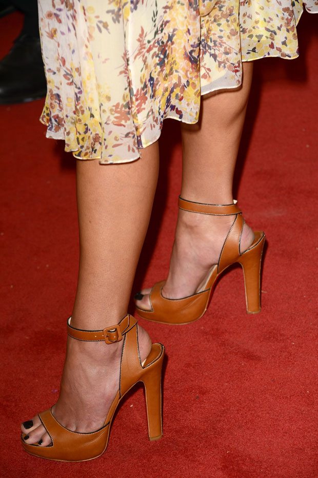 Jordana Brewster's Christian Louboutin 'Viola' sandals.