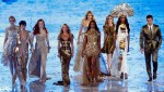 Supermodels Don Gold At The 2012 Olympic Games Closing Ceremony