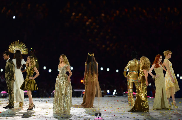 Supermodels at the 2012 Olympic Games Closing Ceremony