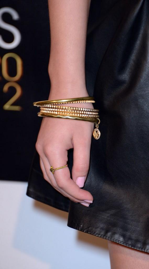 Miranda Cosgrove's Loree Rodkin bracelets