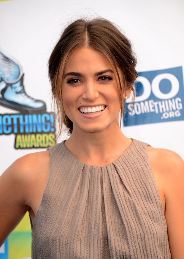 Nikki Reed in Lela Rose