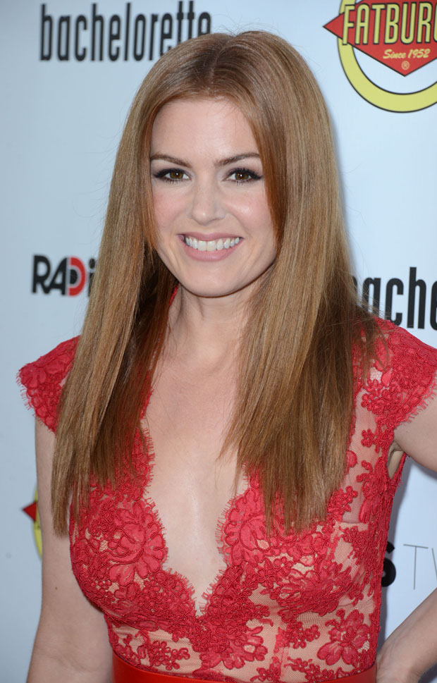 Isla Fisher in Reem Acra