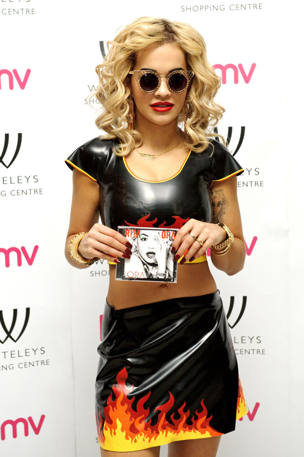 Rita Ora in Meat Clothing