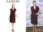 Amy Adams' Lanvin Belted Crepe Dress