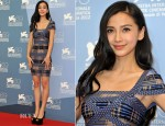 Angelababy Yang In Hervé Léger by Max Azria  - 'Tai Chi O' Venice Film Festival Photocall