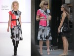 Anna Wintour In Carolina Herrera - Balthazar Restaurant