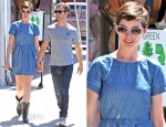 Anne Hathaway In Madewell - Out In LA