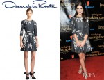 Ashley Greene's Oscar de la Renta Bijoux Printed Silk Dress
