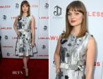 Bella Heathcote In Jonathan Saunders – 'Lawless' LA Premiere