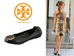 Bella Thorne's Tory Burch Nappa Leather Reva Ballet Flats