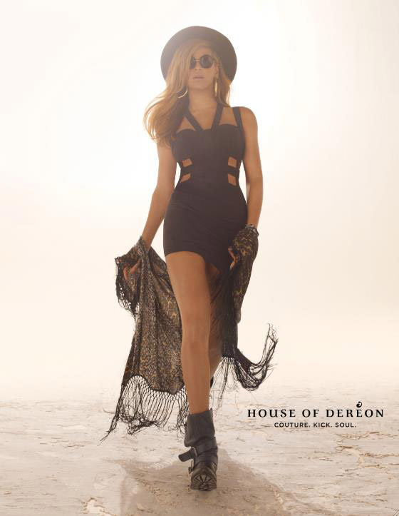Beyonce Knowles For House of Dereon Fall 2012 Ad Campaign