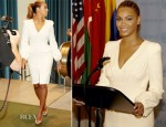 Beyonce Knowles In Alexander McQueen - United Nations General Assembly Hall