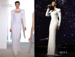 Beyonce Knowles In Marc Bouwer - 'I Was Here' World Humanitarian Day Performance