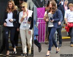 Catherine, Duchess of Cambridge In Smythe & J Brand - 2012 London Olympic Games