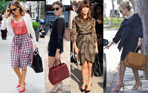Celebrities Love Fendi '2Jours Elite' Leather Shopper