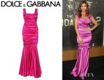 Charisma Carpenter's Dolce & Gabbana Draped Silk Evening Gown