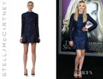 Chloe Moretz' Stella McCartney Jacquard Flounce Dress