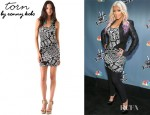 Christina Aguilera's Torn by Ronny Kobo Sammy Tribal Knit Dress