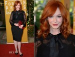 Christina Hendricks In Dolce & Gabbana & Badgley Mischka - Hollywood Foreign Press Association's 2012 Installation Luncheon