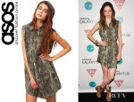 Coco Rocha's Diesel Shirt Dress With Snake Print