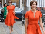 Crown Princess Mary of Denmark In Marc Jacobs - St. Petersburg Loye Prize and Medals Ceremony
