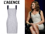 Daisy Betts' L'Agence Fitted Sleeveless Dress