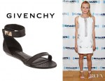 Diane Kruger's Givenchy Eelskin Two Piece Flat Sandals