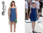 Elizabeth Banks' Madewell Rosette Cutout Cami Dress