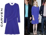 Emma Stone's Carven Crepe Shirt Dress