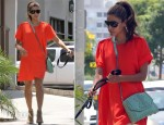 Eva Mendes In 3.1 Phillip Lim - Out In LA