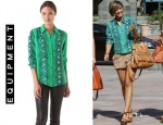 Frankie Sandford's Equipment 'Brett' Blouse