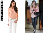 Hilary Duff's Equipment Slim Signature Blouse
