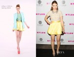 Holland Roden In Alice + Olivia - NYLON Magazine August Issue Launch Party