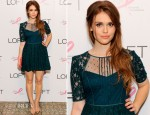 Holland Roden In BCBG Max Azria  - Live IN Pink Event