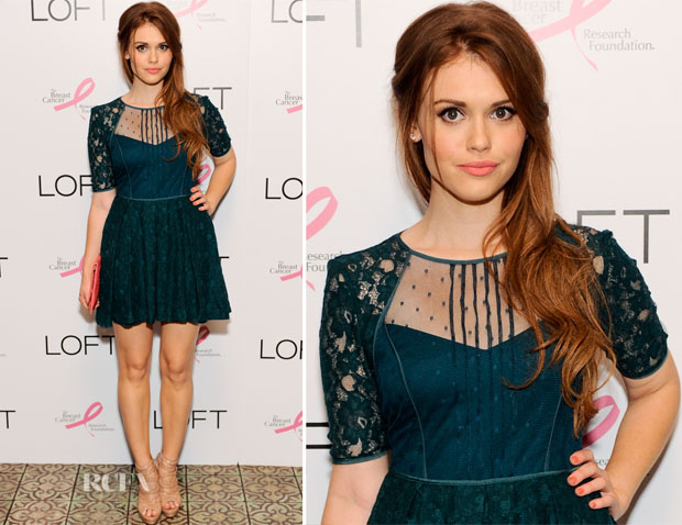 52ca22991ef Holland Roden In BCBG Max Azria - Live IN Pink Event - Red Carpet ...