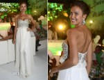 Irina Shayk In Marchesa - Fawaz Gruosi's 60th Birthday Party