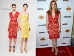 Isla Fisher In Reem Acra - 'Bachelorette' LA Premiere