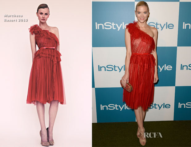 Jaime King In Marchesa - 11th Annual InStyle Summer Soiree