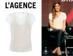 Jennifer Carpenter's L'Agence Beaded Chiffon And Silk Crepe Top