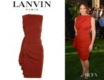 Jennifer Garner's Lanvin Draped Crepe Dress