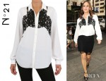 Jennifer Garner's N°21 Cotton Lace On Silk Crepon Shirt