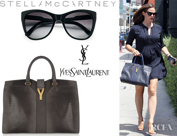 Jennifer Garner\u0026#39;s YSL Cabas Chyc Lizard Effect Leather Tote And ...